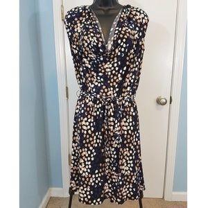 Leota Pebble Beach Cowl Neck Dress Size Small